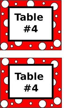 Table Numbers (Colored)-EDITABLE