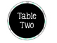 Table Numbers {Editable!} {Turquoise, Black, & Grey!}