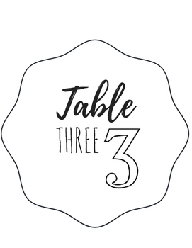 Table Numbers {FREEBIE}