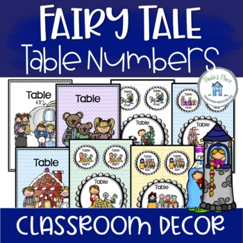 Table Numbers Fairy Tale Theme