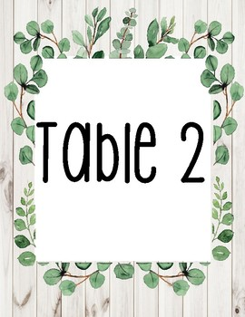 Table Numbers-Farmhouse