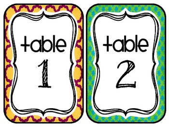 Table Numbers Freebie {Tropical Truffula}