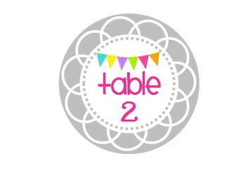 Table Numbers - Gray Circles with Bunting