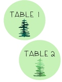 Table Numbers - Mountain Themed