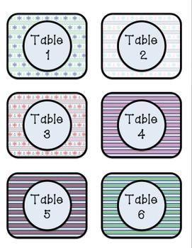 Table Numbers (Nautical Theme) FREEBIE
