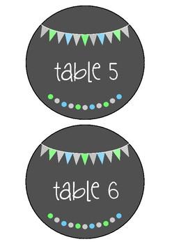 Table Numbers - Ocean Flags