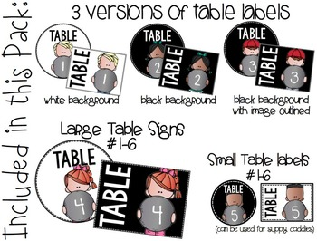 Table Numbers Pack