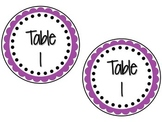 Table Numbers-Scalloped