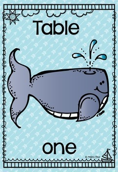 Table Numbers - Sea Theme