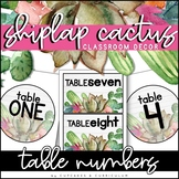 Table Numbers | Shiplap Cactus Classroom Decor
