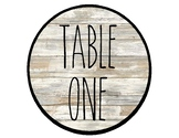 Table Numbers Sign - Farmhouse