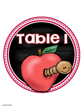 Table Numbers Signs Apple Theme