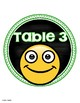 Table Numbers Signs Emoji Smiley Face Theme