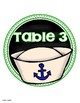 Table Numbers Signs Nautical Sailing Theme
