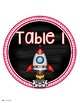 Table Numbers Signs Outer Space Theme