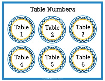 Table Signs: Group Signs