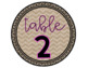 Table Numbers || Tables 1-8 || Chevron Burlap || 2 Styles