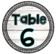 Table Numbers || Tables 1-8 || White Wood || 2 Styles