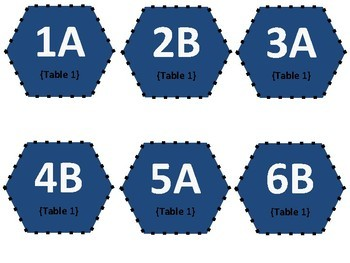 Table Numbers and Desk Labels