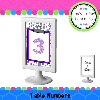 Ikea Frame Table Numbers (clipboards)