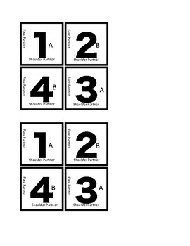 Table Numbers for Cooperative Groups of 4