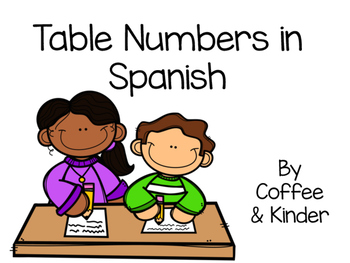 Table Numbers in Spanish