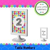 Ikea Frame Table Numbers (rainbow dots)
