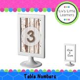 Ikea Frame Table Numbers (wood)