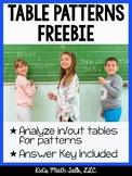 Table Patterns Freebie Pack