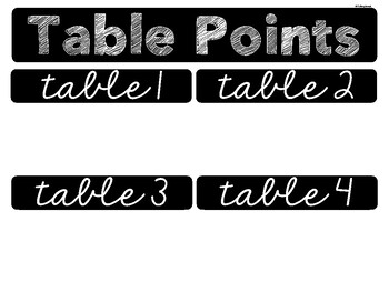 Table Point Sign