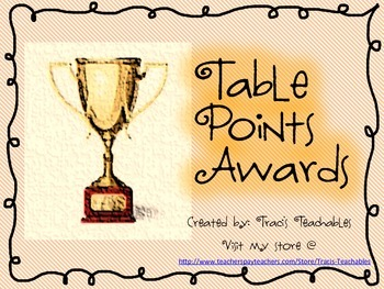 Table Points For Classroom Management