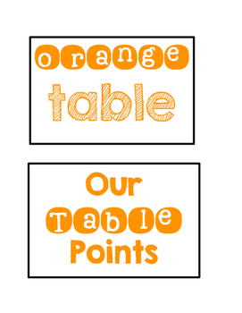 Table Points Cards