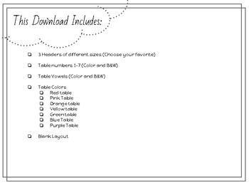 Table Points (Positive Reinforcement System)
