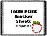 Table Points Tracking Sheets