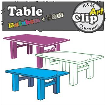 Table Rainbow Clip Art