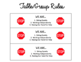 Table Rules/Reminders