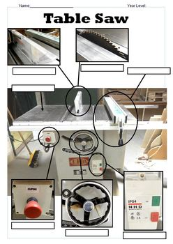Table Saw Worksheet