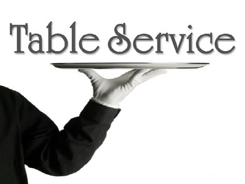 Table Service Powerpoint for a Culinary Arts or Hospitality Course