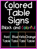 Table Sign Posters (Black and Colorful Series)