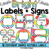 Editable Labels for Classrooms - Tables, Groups, Stations and More!
