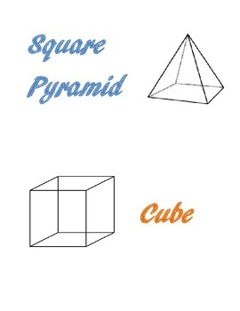 Table Signs-3D Shapes