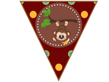 Tables Signs And Welcome Banner - Monkey Theme