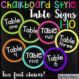Table Signs: Chalkboard Brights