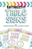 Table Signs- EDITABLE