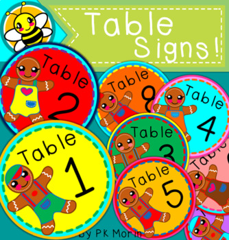 Table Signs - Gingerbread Kids!