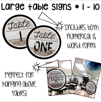 Table Signs / Labels - Shiplap Shabby Chic Wood Theme