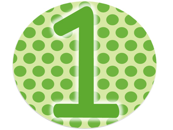 Table Signs (Polka Dot Numbers)