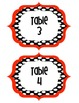 Table Signs Polka dot Black & Red