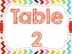 Rainbow Chevron Table Signs (Rainbow)
