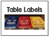 Table Signs (Rainbow multicolored)